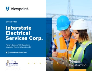 Interstate Electrical Services Powers Success ith Spectrum, Viewpoint Team and Spectrum BI
