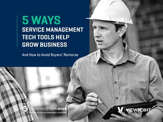 Five Ways Service Management Tech Tools Help Construction Businesses Grow