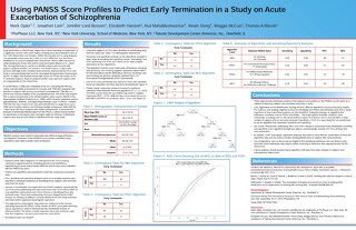 Using PANSS Score Profiles to Predict Early Termination in a Study on Acute Exacerbation of Schizophrenia
