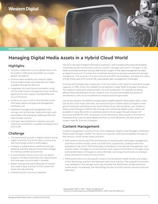 Managing Digital Media Assets in a Hybrid Cloud World