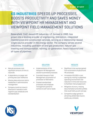 KS Industries Improves Productivity with Human Resources and Field Management Software