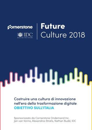 Future Culture 2018 - OBIETTIVO SULL'ITALIA