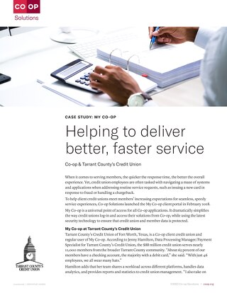 How MyCO-OP Helps Tarrant County's CU Deliver Faster Member Service