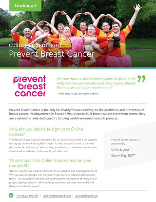 Prevent Breast Cancer | Customer Spotlight