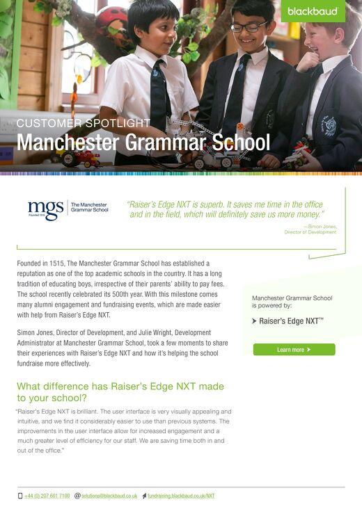 Manchester Grammar School | Raiser's Edge NXT