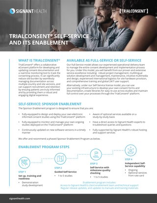 TrialConsent® Self-Service and its Enablement - Factsheet