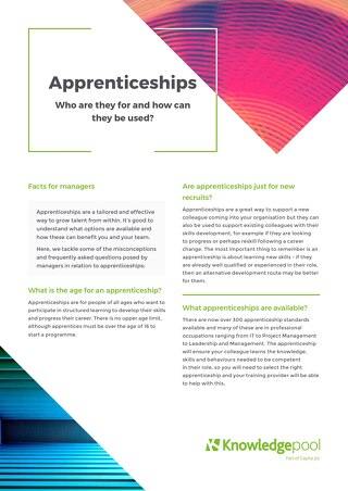 Apprenticeships - Line Manager Facts