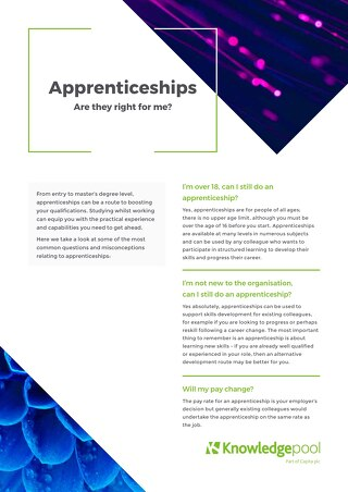 Apprenticeships - Are they right for me?