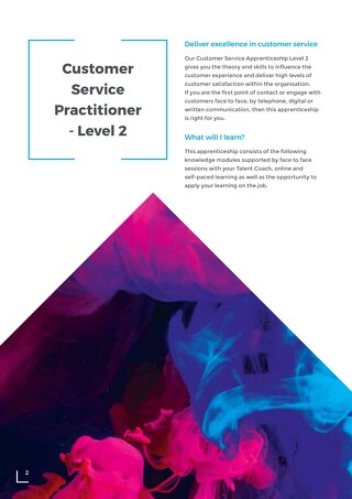 Customer Service Practitioner Level 2 Overview