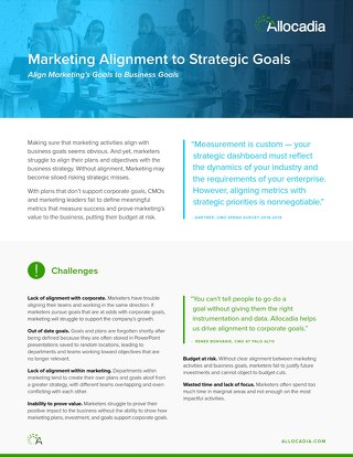 Marketing Alignment to Strategic Goals
