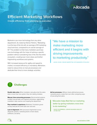 Efficient Marketing Workflow