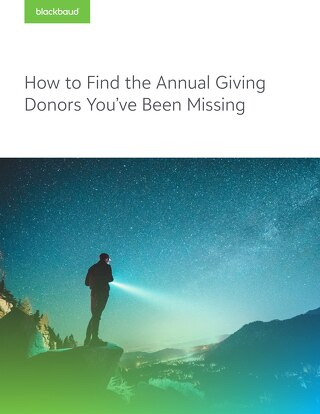 White Paper: Find The Annual Giving Donors You Have Been Missing