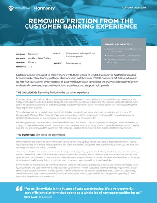 Harmoney: Removing Friction from the Customer Banking Experience