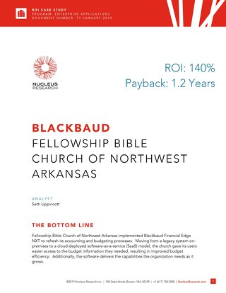 ROI Case Study: Fellowship Bible Church of NWA