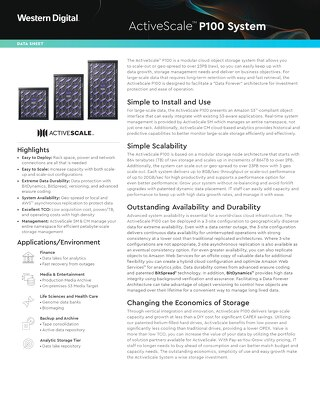 Data Sheet: ActiveScale P100