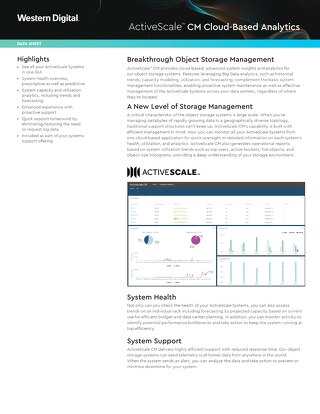 Data Sheet: ActiveScale CM Cloud-Based Analytics