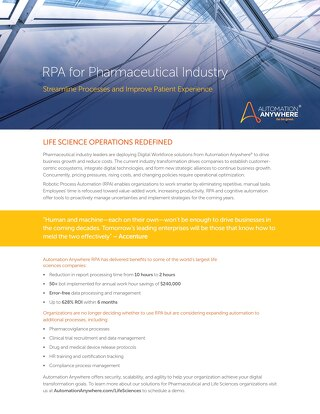 RPA for the Pharmaceutical Industry