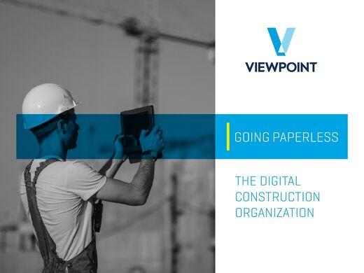 Going Paperless: The Digital Construction Organization
