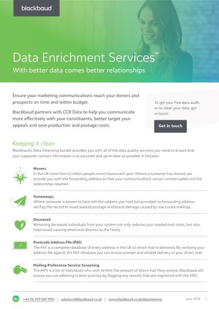 Data Enrichment Services Datasheet