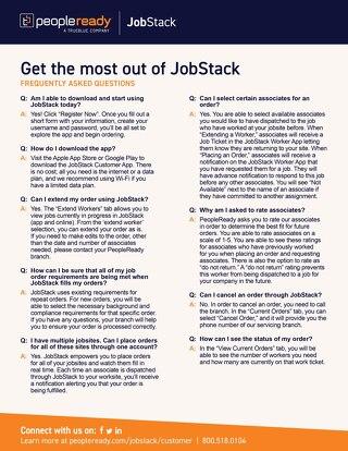 JobStack Customer FAQ