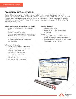 COMMANDbatch Precision Water System Spec