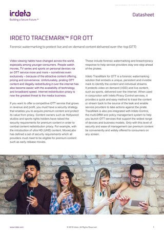 Datasheet: TraceMark™ for OTT