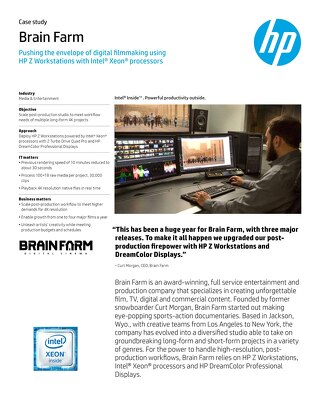 HP Z, Intel and Microsoft Success Story