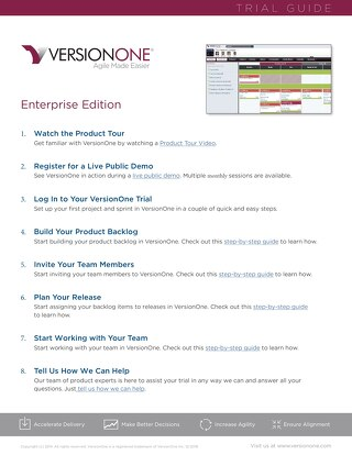 VersionOne Enterprise Edition Trial Guide