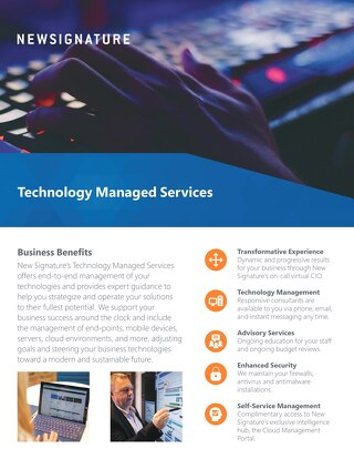Technology Managed Services Flyer 2018