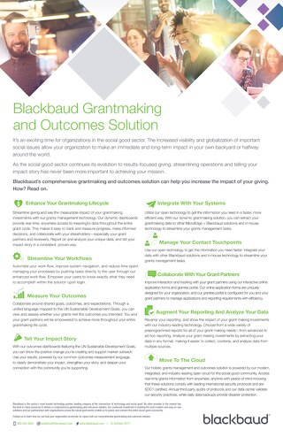 Grantmaking and Outcomes Brochure