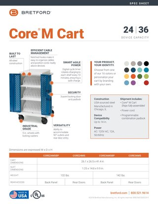 Core M Cart Spec Sheet