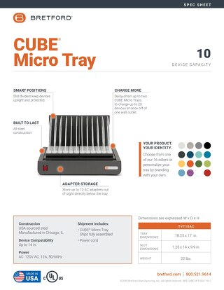 CUBE Micro Tray Spec Sheet