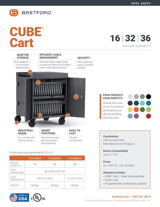 CUBE Cart Spec Sheet