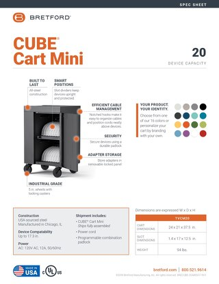 CUBE Cart Mini Spec Sheet