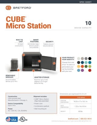 CUBE Micro Station Spec Sheet