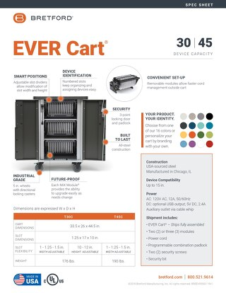EVER Cart Spec Sheet