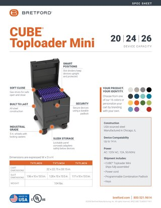 CUBE Toploader Mini Spec Sheet