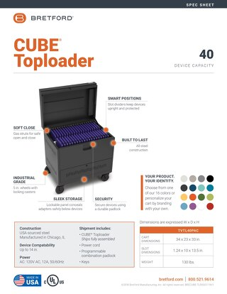 CUBE Toploader Spec Sheet