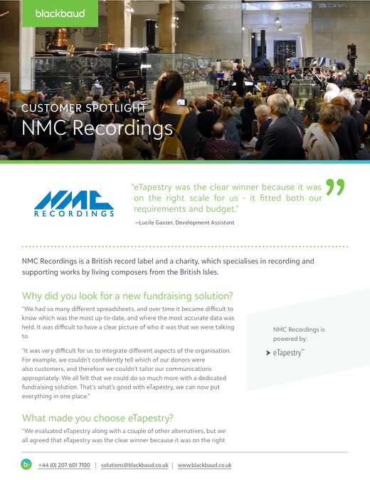 NMC Recordings | Customer Spotlight