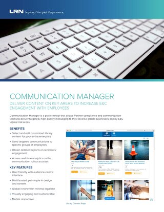 Communication Manager Fact Sheet