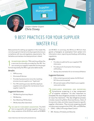 9 Best Practices in Supplier Management
