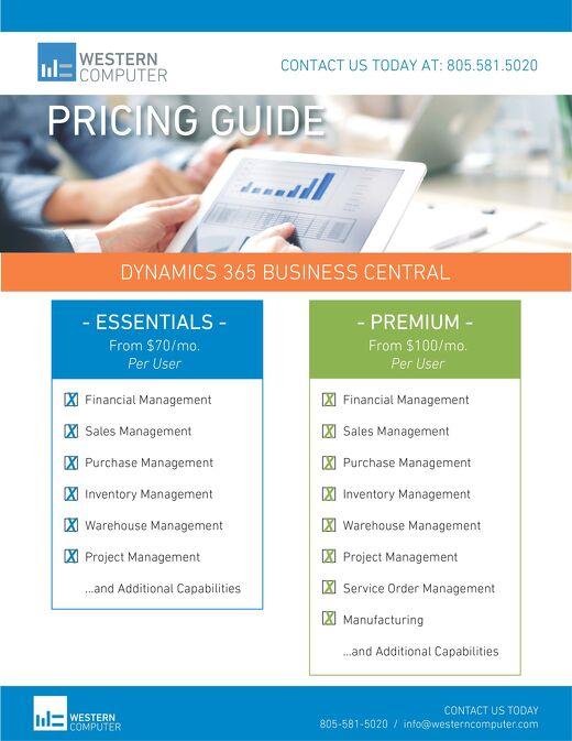 Dynamics 365 Business Central: Comparison Sheet