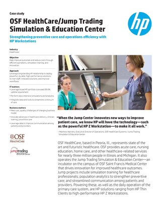 Strengthening preventive care and operations efficiency with HP Workstations
