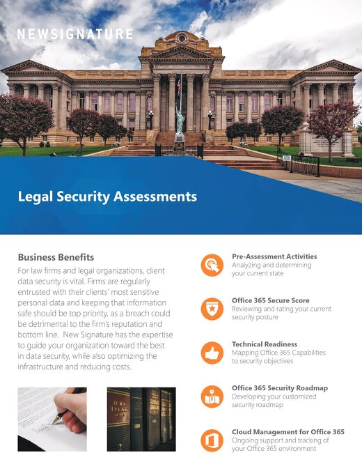 Legal Security Assessment Flyer 2018