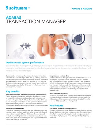 Adabas Transaction Manager