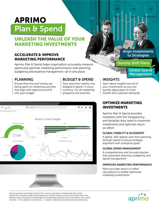 Plan and Spend Product Data Sheet