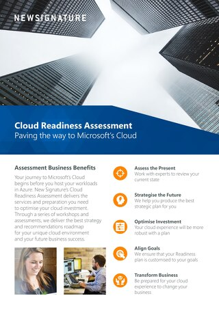 Cloud Readiness Assessment Flyer 2018 - UK
