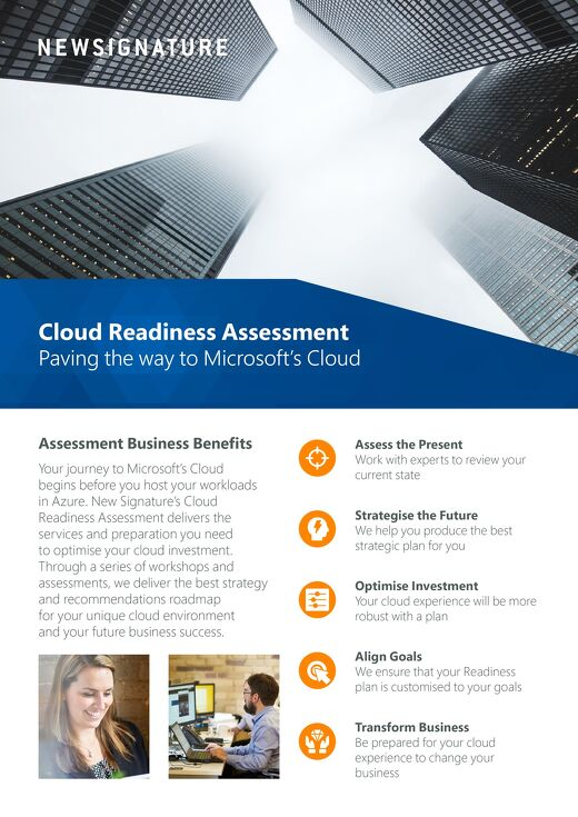 Cloud Readiness Assessment Flyer 2018 - UK