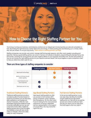 Comparison Guide: How to Choose the Right Staffing Partner for You