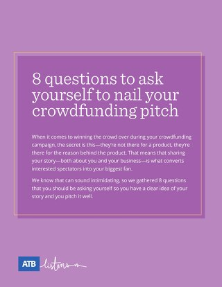ATB Crowdfunding Infographic Eight Questions to Ask Yourself